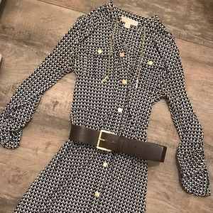 Gently used Michael Kors dress with belt.